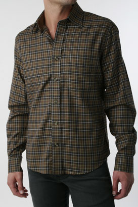 william-rast-woven-shirt-brown