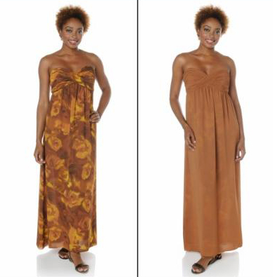 Serena Signature Flowing Floral Reversible Maxi Dress