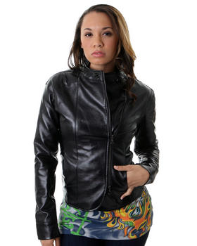 Fetish Emma Faux Leather Motor Jacket 6399