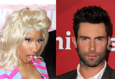 Nicki Minaj and Adam Levine